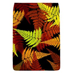 3d Red Abstract Fern Leaf Pattern Flap Covers (s)