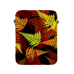 3d Red Abstract Fern Leaf Pattern Apple iPad 2/3/4 Protective Soft Cases