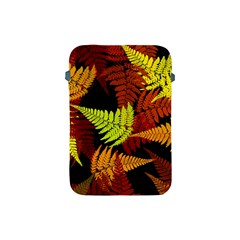 3d Red Abstract Fern Leaf Pattern Apple Ipad Mini Protective Soft Cases