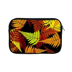3d Red Abstract Fern Leaf Pattern Apple Ipad Mini Zipper Cases