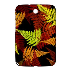 3d Red Abstract Fern Leaf Pattern Samsung Galaxy Note 8 0 N5100 Hardshell Case