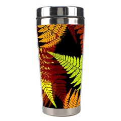 3d Red Abstract Fern Leaf Pattern Stainless Steel Travel Tumblers