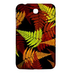 3d Red Abstract Fern Leaf Pattern Samsung Galaxy Tab 3 (7 ) P3200 Hardshell Case