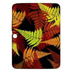 3d Red Abstract Fern Leaf Pattern Samsung Galaxy Tab 3 (10 1 ) P5200 Hardshell Case