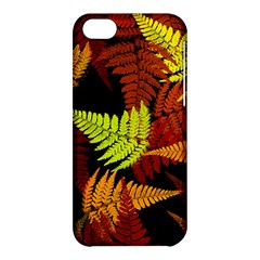 3d Red Abstract Fern Leaf Pattern Apple iPhone 5C Hardshell Case