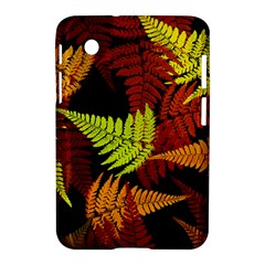 3d Red Abstract Fern Leaf Pattern Samsung Galaxy Tab 2 (7 ) P3100 Hardshell Case