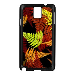 3d Red Abstract Fern Leaf Pattern Samsung Galaxy Note 3 N9005 Case (black)
