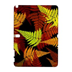 3d Red Abstract Fern Leaf Pattern Galaxy Note 1