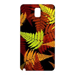 3d Red Abstract Fern Leaf Pattern Samsung Galaxy Note 3 N9005 Hardshell Back Case