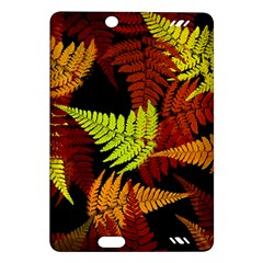 3d Red Abstract Fern Leaf Pattern Amazon Kindle Fire Hd (2013) Hardshell Case