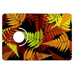 3d Red Abstract Fern Leaf Pattern Kindle Fire Hdx Flip 360 Case