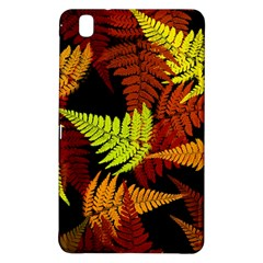 3d Red Abstract Fern Leaf Pattern Samsung Galaxy Tab Pro 8.4 Hardshell Case