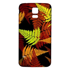 3d Red Abstract Fern Leaf Pattern Samsung Galaxy S5 Back Case (white)