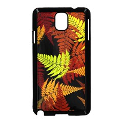 3d Red Abstract Fern Leaf Pattern Samsung Galaxy Note 3 Neo Hardshell Case (Black)