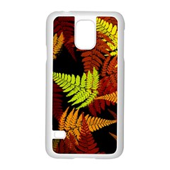 3d Red Abstract Fern Leaf Pattern Samsung Galaxy S5 Case (white)