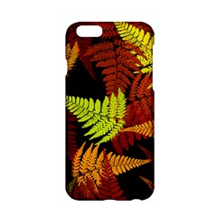 3d Red Abstract Fern Leaf Pattern Apple iPhone 6/6S Hardshell Case