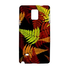 3d Red Abstract Fern Leaf Pattern Samsung Galaxy Note 4 Hardshell Case
