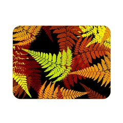 3d Red Abstract Fern Leaf Pattern Double Sided Flano Blanket (mini)