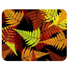 3d Red Abstract Fern Leaf Pattern Double Sided Flano Blanket (medium)