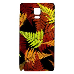 3d Red Abstract Fern Leaf Pattern Galaxy Note 4 Back Case