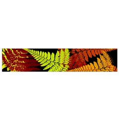 3d Red Abstract Fern Leaf Pattern Flano Scarf (small)