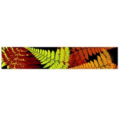 3d Red Abstract Fern Leaf Pattern Flano Scarf (large)