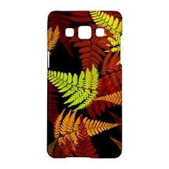3d Red Abstract Fern Leaf Pattern Samsung Galaxy A5 Hardshell Case