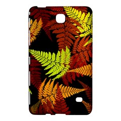 3d Red Abstract Fern Leaf Pattern Samsung Galaxy Tab 4 (8 ) Hardshell Case