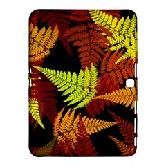 3d Red Abstract Fern Leaf Pattern Samsung Galaxy Tab 4 (10.1 ) Hardshell Case