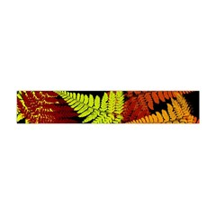 3d Red Abstract Fern Leaf Pattern Flano Scarf (mini)