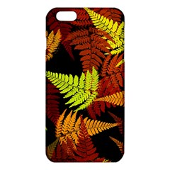3d Red Abstract Fern Leaf Pattern iPhone 6 Plus/6S Plus TPU Case