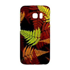 3d Red Abstract Fern Leaf Pattern Galaxy S6 Edge