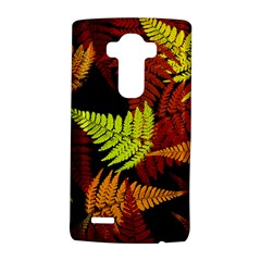 3d Red Abstract Fern Leaf Pattern LG G4 Hardshell Case
