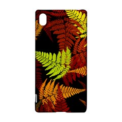 3d Red Abstract Fern Leaf Pattern Sony Xperia Z3+