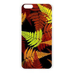 3d Red Abstract Fern Leaf Pattern Apple Seamless iPhone 6 Plus/6S Plus Case (Transparent)