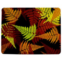 3d Red Abstract Fern Leaf Pattern Jigsaw Puzzle Photo Stand (rectangular)