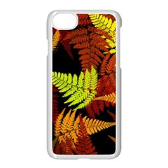 3d Red Abstract Fern Leaf Pattern Apple Iphone 7 Seamless Case (white)