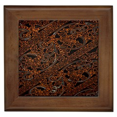 Art Traditional Indonesian Batik Pattern Framed Tiles