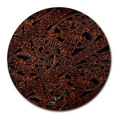 Art Traditional Indonesian Batik Pattern Round Mousepads