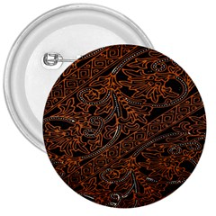 Art Traditional Indonesian Batik Pattern 3  Buttons