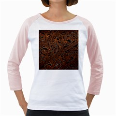 Art Traditional Indonesian Batik Pattern Girly Raglans