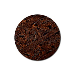 Art Traditional Indonesian Batik Pattern Rubber Coaster (Round)