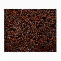 Art Traditional Indonesian Batik Pattern Small Glasses Cloth