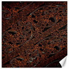 Art Traditional Indonesian Batik Pattern Canvas 20  X 20