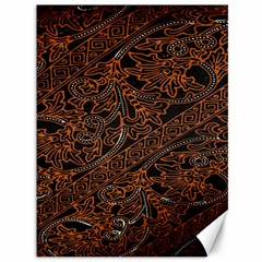 Art Traditional Indonesian Batik Pattern Canvas 36  X 48