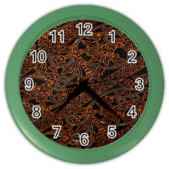 Art Traditional Indonesian Batik Pattern Color Wall Clocks