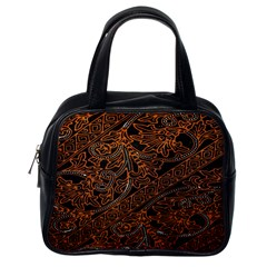 Art Traditional Indonesian Batik Pattern Classic Handbags (one Side)
