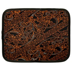 Art Traditional Indonesian Batik Pattern Netbook Case (xl)