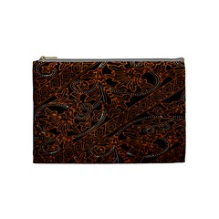 Art Traditional Indonesian Batik Pattern Cosmetic Bag (medium)