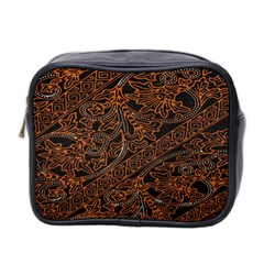 Art Traditional Indonesian Batik Pattern Mini Toiletries Bag 2 Side